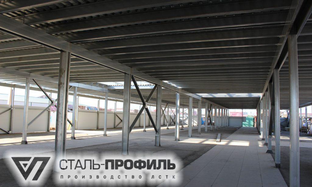 Двухэтажный ТЦ 24х72 из ЛСТК